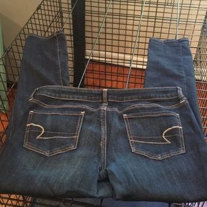 WORN ONCE! American Eagle ripped jeans
